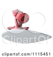 Clipart 3d Pig Surfing 4 Royalty Free CGI Illustration
