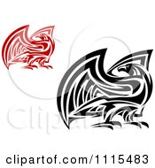Clipart Tribal Falcons Eagles Or Hawks Royalty Free Vector Illustration