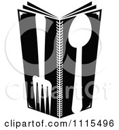 Clipart Black And White Dining And Restaurant Silverware Menu Logo 4 Royalty Free Vector Illustration