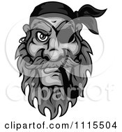 Clipart Grayscale Pirate Smoking A Tobacco Pipe Royalty Free Vector Illustration by Vector Tradition SM