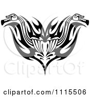 Clipart Black And White Tribal Motorcycle Biker Handlebars Royalty Free Vector Illustration