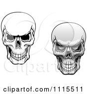 Clipart Evil Human Skulls Grinning Royalty Free Vector Illustration
