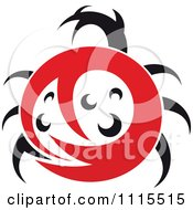 Clipart Abstract Spotted Ladybug Beetle Royalty Free Vector Illustration