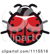 Clipart Spotted Ladybug Beetle 5 Royalty Free Vector Illustration by Vector Tradition SM