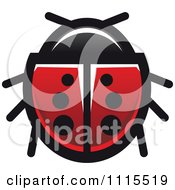 Clipart Spotted Ladybug Beetle 2 Royalty Free Vector Illustration by Vector Tradition SM