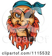 Clipart Pirate Smoking A Tobacco Pipe Royalty Free Vector Illustration