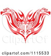 Red Tribal Motorcycle Biker Handlebars