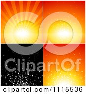 Clipart Orange And Black Starburst Backgrounds Royalty Free Vector Illustration by dero