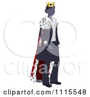 Clipart Business Woman Queen With A Robe And Crown Royalty Free Vector Illustration