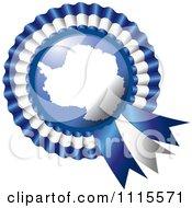 Clipart Shiny Antarctica Flag Rosette Bowknots Medal Award Royalty Free Vector Illustration