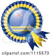 Shiny Aruba Flag Rosette Bowknots Medal Award