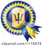 Shiny Barbados Flag Rosette Bowknots Medal Award