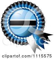 Shiny Botswana Flag Rosette Bowknots Medal Award