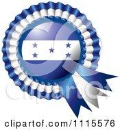 Shiny Honduras Flag Rosette Bowknots Medal Award