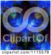 Clipart Blue Fractal Burst Background Royalty Free Illustration