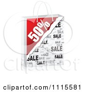 Clipart 3d Fifty Percent Sales Shopping Bag Royalty Free Vector Illustration