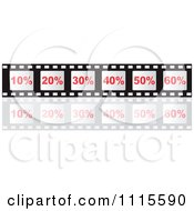 Clipart Percent Film Strip Frames With A Reflection Royalty Free Vector Illustration by Andrei Marincas