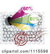 Clipart Sixty Percent Sales Stamp With A Post Mark Royalty Free Vector Illustration by Andrei Marincas