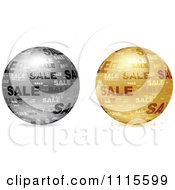 Clipart 3d Gold And Silver Sales Spheres Royalty Free Vector Illustration