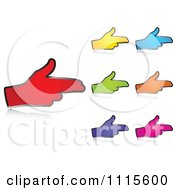 Clipart Colored Hands Aim Pointing Royalty Free Vector Illustration by Andrei Marincas