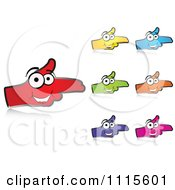 Clipart Colored Happy Hands Aim Pointing Royalty Free Vector Illustration by Andrei Marincas