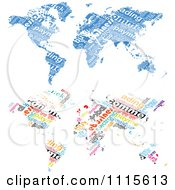 Clipart Blue And Colorful E Commerce World Maps Royalty Free Vector Illustration by Andrei Marincas