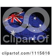 Clipart Australian Flag Kiss Royalty Free Vector Illustration
