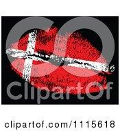 Clipart Danish Flag Kiss Royalty Free Vector Illustration by Andrei Marincas