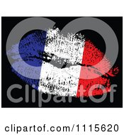 Clipart French Flag Kiss Royalty Free Vector Illustration