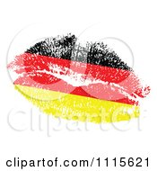 German Flag Kiss On White