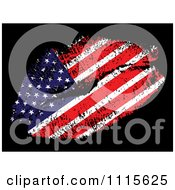 Clipart American Flag Kiss Royalty Free Vector Illustration