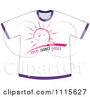 Clipart White Me And You Sun Shirt Royalty Free Vector Illustration by Andrei Marincas