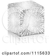 Clipart 3d Silver Music Burst Cube Royalty Free Vector Illustration by Andrei Marincas