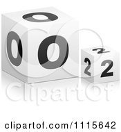 Clipart 3d Cubes Spelling RISK Royalty Free Vector Illustration by Andrei Marincas