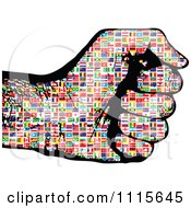 Clipart Flag Patterned Fist Royalty Free Vector Illustration by Andrei Marincas