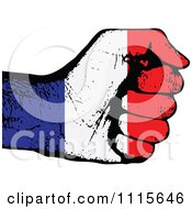 Clipart French Flag Fist Royalty Free Vector Illustration by Andrei Marincas