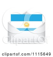 Clipart Argentina Letter In An Envelope Royalty Free Vector Illustration