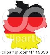 Clipart Germany Map With Flag ...