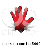 Clipart Red Hand Reaching Through A Crack Royalty Free Vector Illustration by Andrei Marincas
