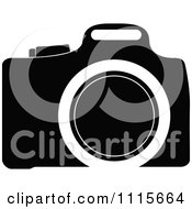 Clipart Black And White Camera Royalty Free Vector Illustration