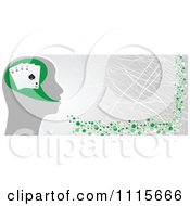 Clipart Poker Head Banner Royalty Free Vector Illustration