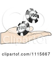 Clipart Poker Player Tossing Chips Royalty Free Vector Illustration by Andrei Marincas