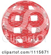 Clipart Red Ball Made Of Red Scribbles With Rectangle Holes Royalty Free Vector Illustration