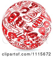 Clipart Red Ball Made Of Words Royalty Free Vector Illustration