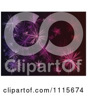 Clipart Purple Star Or Fireworks Burst Background Royalty Free Vector Illustration by Andrei Marincas