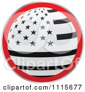 Clipart Black Red And White Round American Flag Icon Royalty Free Vector Illustration