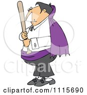 Clipart Vampire Holding A Baseball Bat Royalty Free Vector Illustration by djart