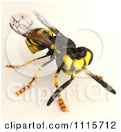 Clipart 3d Wasp Bee 2 Royalty Free CGI Illustration