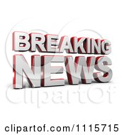 Clipart 3d Breaking News Television Text Royalty Free CGI Illustration by stockillustrations