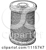 Clipart Retro Vintage Black And White Spool Of Sewing Thread Royalty Free Vector Illustration by Prawny Vintage #COLLC1115747-0178